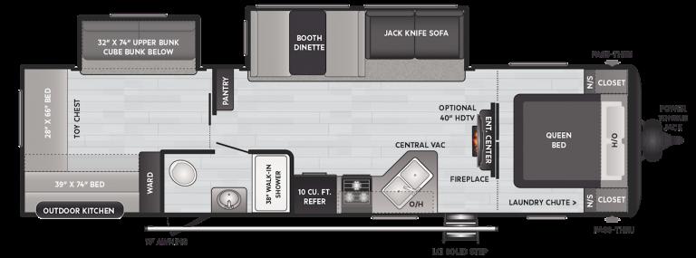 keystone hideout lhs travel trailer 318br