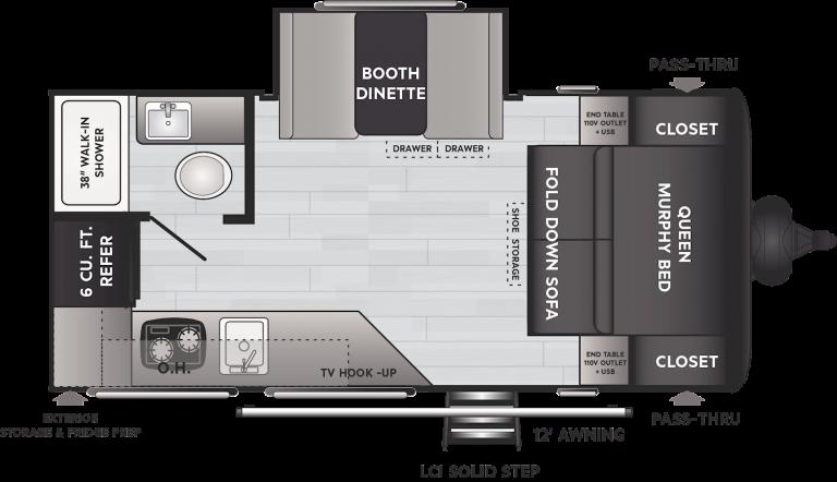 keystone hideout lhs travel trailer 174rk
