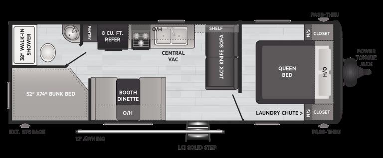 keystone hideout lhs travel trailer 262bh