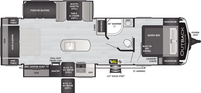 keystone outback ultra lite travel trailer 292url