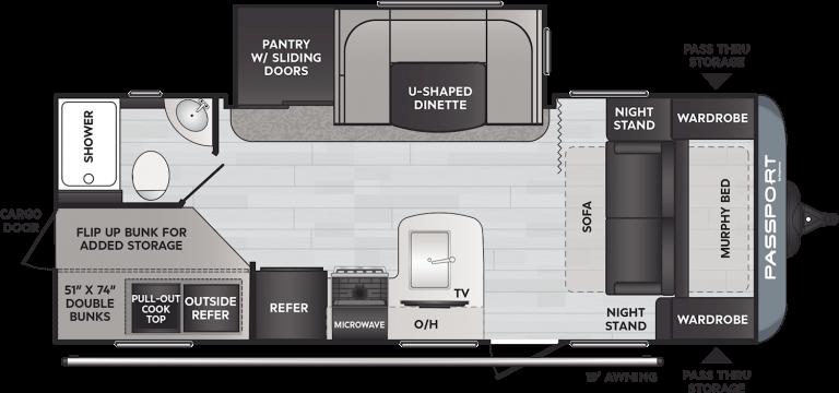 keystone passport sl travel trailer 229rk