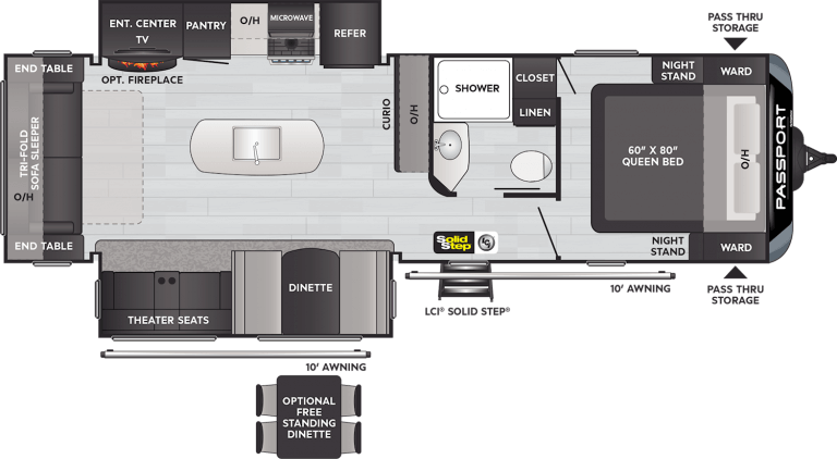 keystone passport gt travel trailer 2870rl