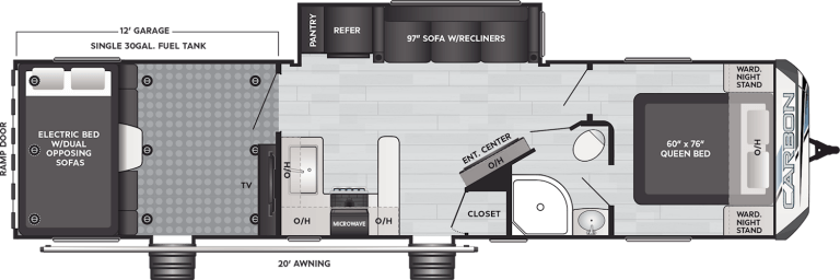 Keystone carbon 35 travel trailer toy hauler 35