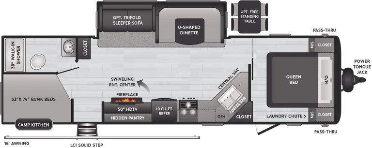 keystone hideout travel trailer 29dfs